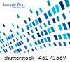 blue mosaic effect - stock vector