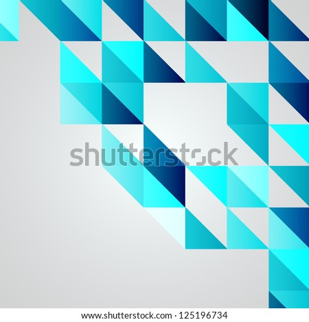 Blue Mosaic Vector Background | EPS10 Illustration - stock vector