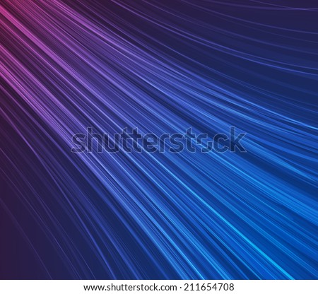 Blue motion abstract background. Vector illustration. - stock vector