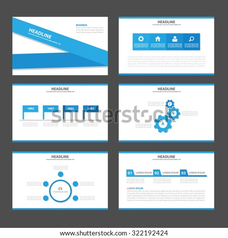 Blue Multipurpose Infographic elements and icon presentation template flat design set for advertising marketing brochure flyer leaflet - stock vector
