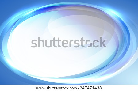 Blue oval abstract background - stock vector
