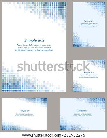 Blue page corner design template invitation stock vector 231952276 blue page corner design template invitation greeting presentation card letter paper stopboris Image collections