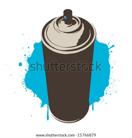blue paint (vector) - stock vector
