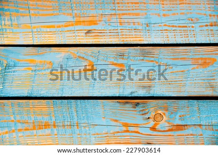 Blue painted wood texture, vector background, shabby chic style - stock vector
