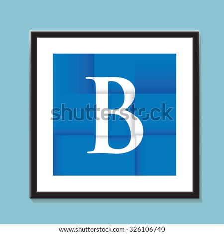 blue paper folded background - stock vector
