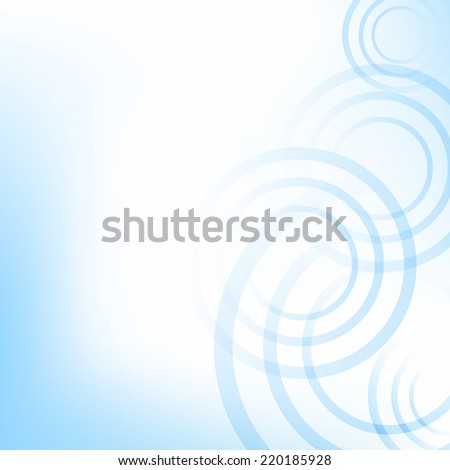 Blue Pastel Background With Circles With Gradient Mesh, Vector Illustration - stock vector