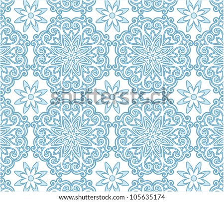 blue pattern background - stock vector