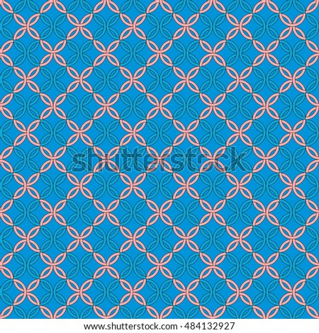 blue pattern with circles