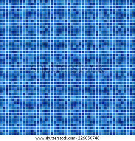Blue pixel mosaic background  - stock vector
