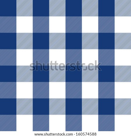 blue plaid pattern - stock vector