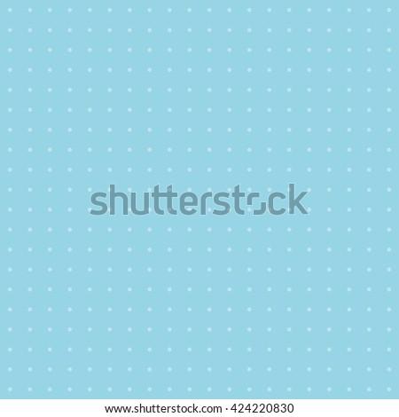 Blue polka dot background pattern. Vector image. - stock vector