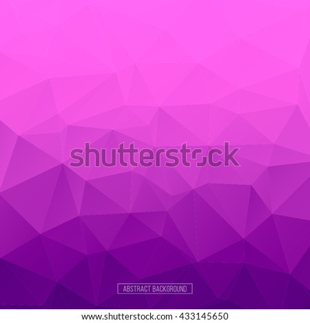 Blue polygon pattern. hexagon background. triangle background, Design element - stock vector