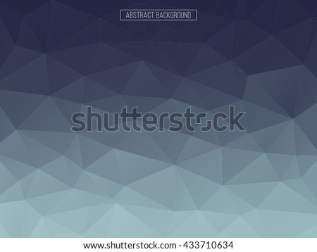 Blue polygon pattern. hexagon background. triangle background, Design element. Business card. - stock vector