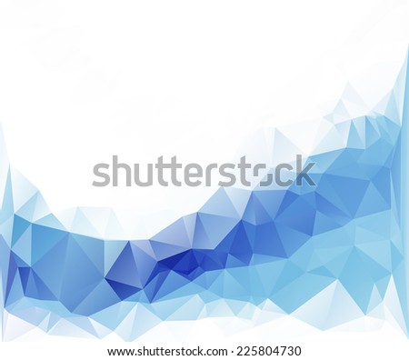 Blue polygonal mosaic background, Vector illustration,  Business design templates - stock vector