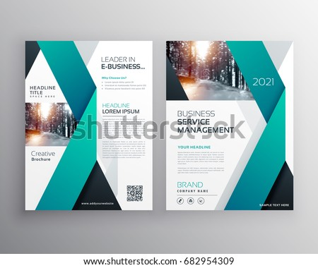 blue professional business flyer brochure annual stock vector