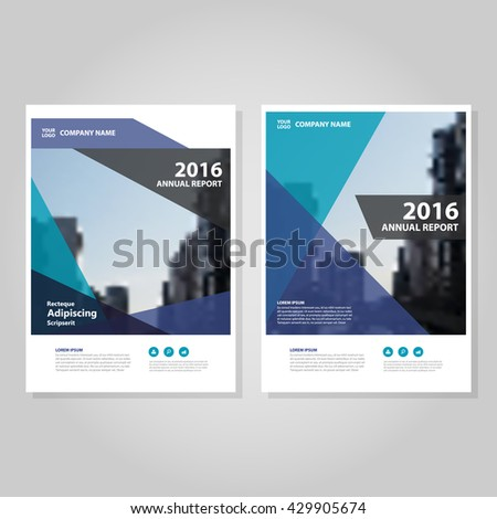 Blue Purple Green Annual Report Leaflet Brochure Flyer Template Design,  Book Cover Layout Design,  Annual Report Template Design