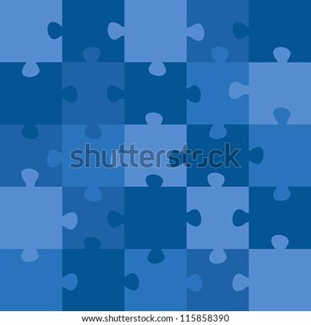 blue puzzle. blue puzzle concept - stock vector