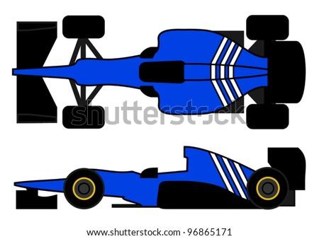 Blue racing car - stock vector