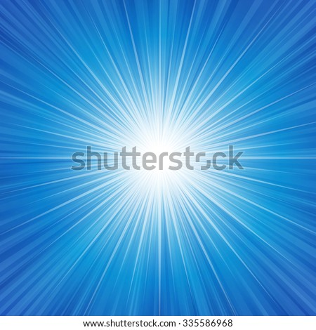 Blue radiance background vector illustration. EPS 10 with transparencies. well constructed for easy editing. - stock vector