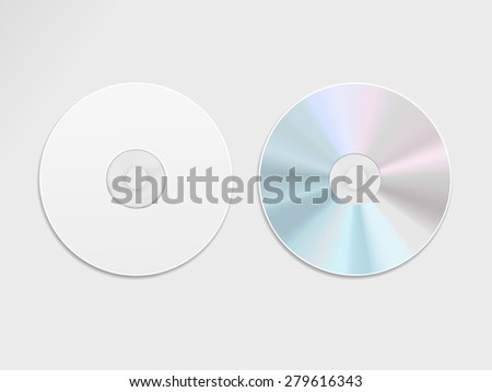 blue-ray CD or DVD isolated on grey background