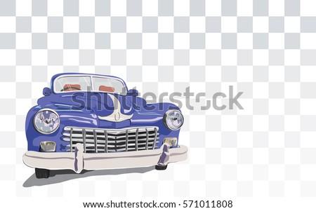 Blue Retro Vintage Old Timer Car Stock Vector Shutterstock
