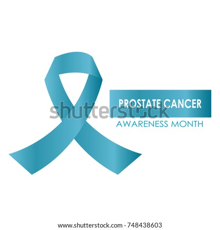 Blue Ribbon Symbol Prostate Cancer Awareness Stock Vector 748438603
