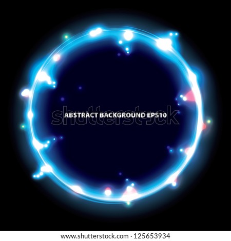 blue ring. frame background. eps10 - stock vector