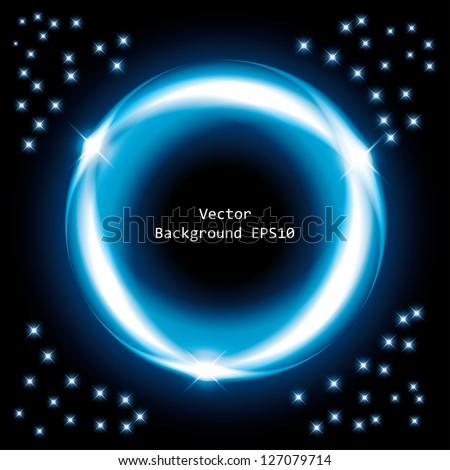 blue ring. frame background. eps10 - stock vector