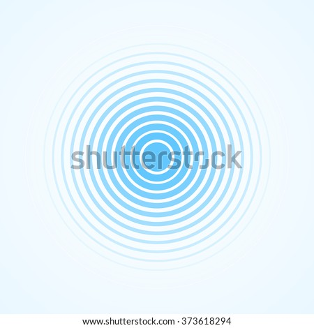 Blue Rings sound wave and line in a circle. Tap symbol. Radio signal background. Vector template illustration abstract speed motion for your design - stock vector