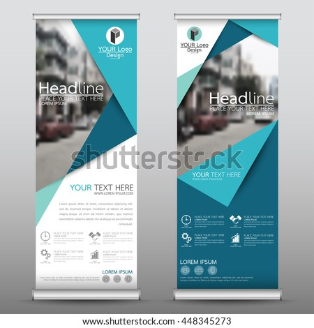blue roll up business brochure flyer banner design vertical template vector cover presentation abstract geometric