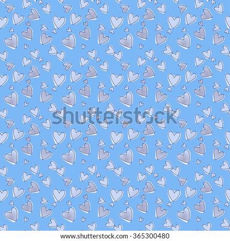 Blue romantic pattern. - stock vector