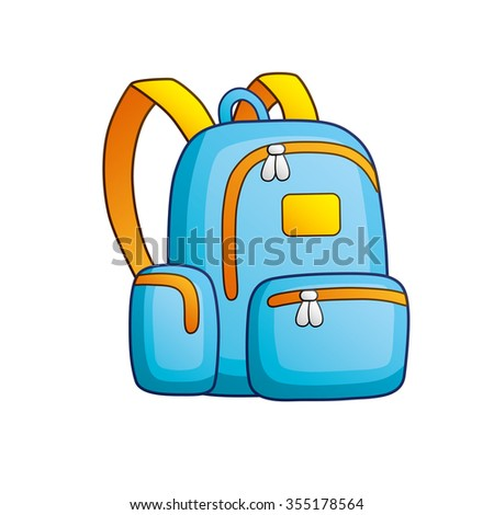 Blue school bag.