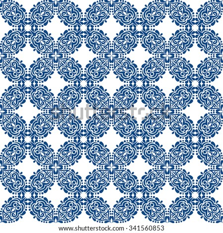 blue seamless pattern on white background.vector illustration