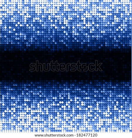 Blue seamless shimmer background with shiny light and dark paillettes. Sparkle glitter background. Abstract Geometric Background. Abstract technology background, vector illustration - stock vector