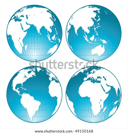 blue shiny globes