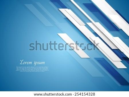 Blue shiny hi-tech elegant background. Vector design - stock vector