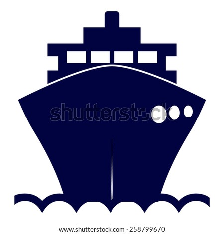 blue ship icon
