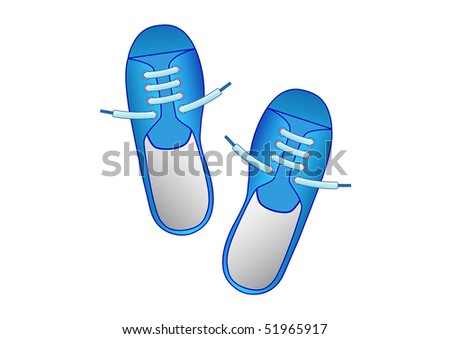 Blue shoes - stock vector
