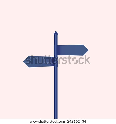 blue sign vector