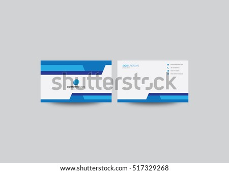 blue simple Vector modern creative and clean business card template