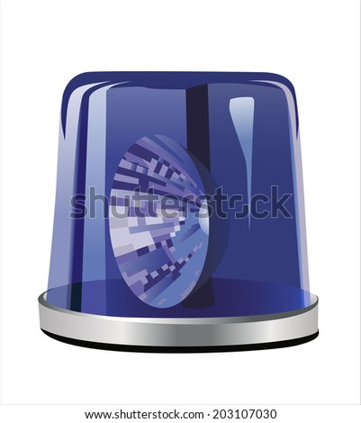 Blue siren isolated on a white background - stock vector