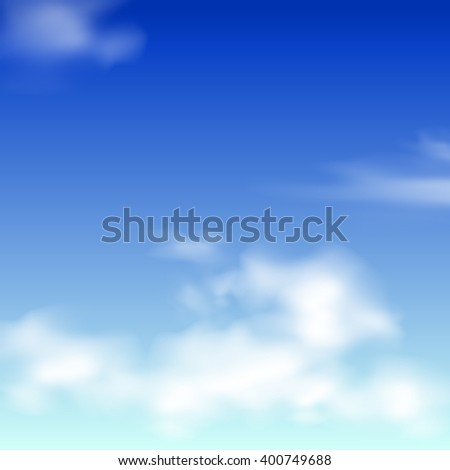 Blue sky with clouds. illustrator background.