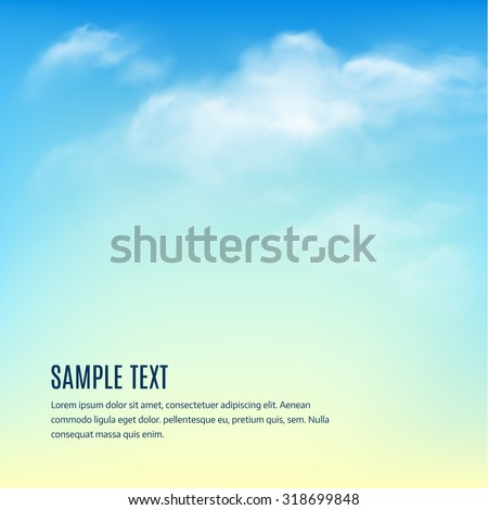 Blue sky with clouds. Vector background EPS 10