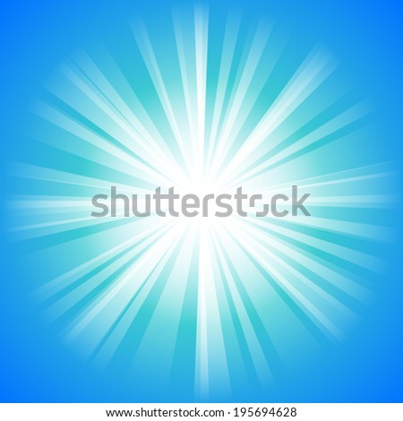 blue sky with light ray pattern background (vector)