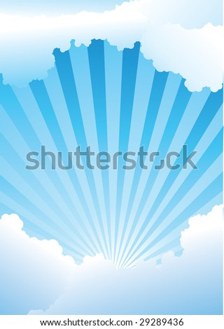 blue-sky with shining rays