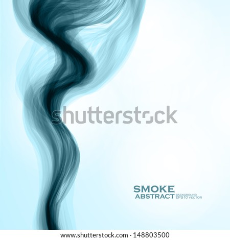 Blue smoke background. Abstract  vector illustration eps10 - stock vector
