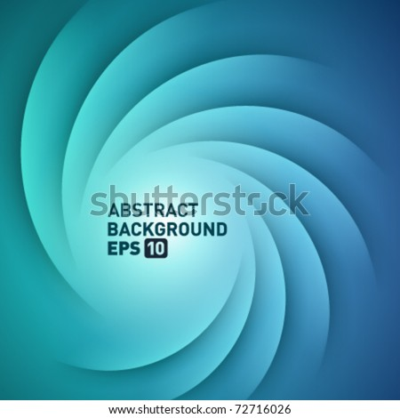 Blue smooth light lines vector background. Eps 10. - stock vector