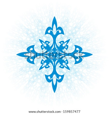 blue snowflake with a glow