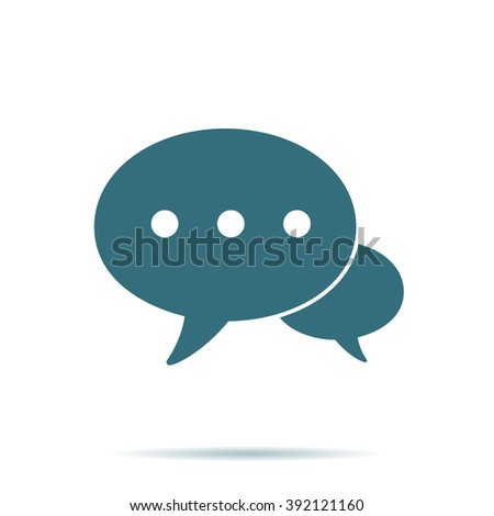 Blue Speech bubble icon isolated on background. Modern flat pictogram, business, marketing, internet concept. Trendy Simple vector symbol for web site design or button to mobile app Logo illustration  - stock vector