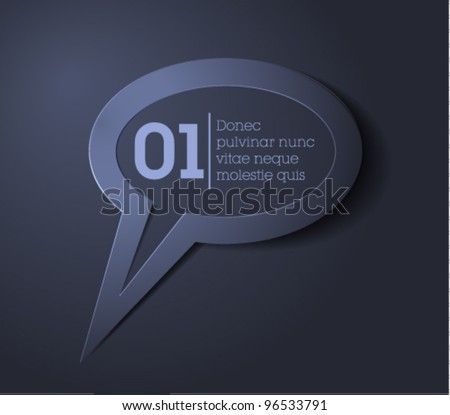 blue speech bubble / modern speech cloud / simple design / web button - stock vector